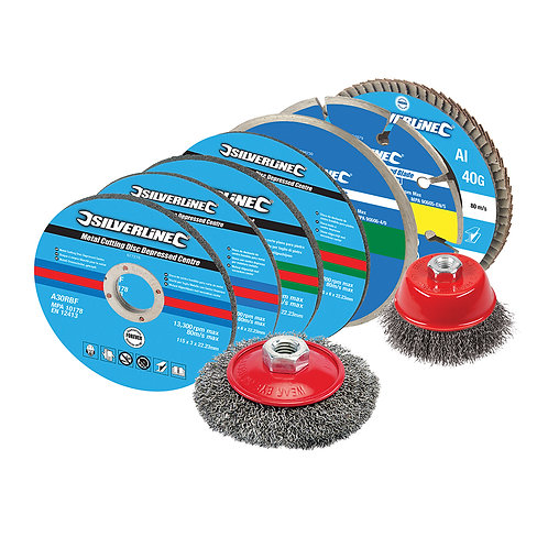 Silverline Cutting & Grinding Discs Kit 12pce