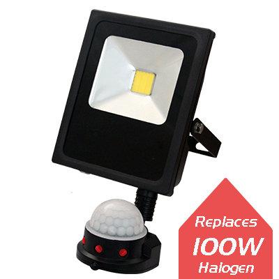 Lumanor LED Floodlights - 20W + PIR IP65