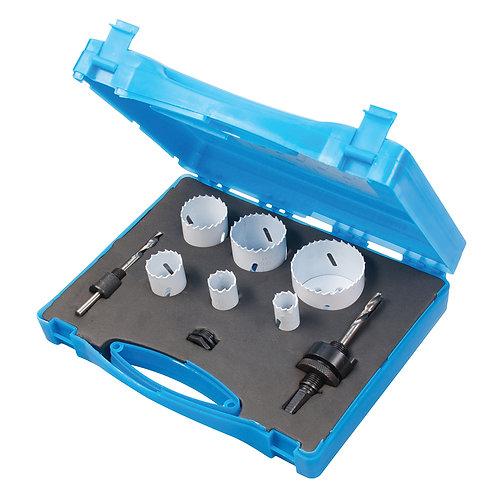 Silverline Plumbers Bi-Metal Holesaw Kit 9pce