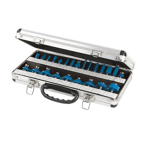 """Silverline 1/4"""" TCT Router Bit Set 24pce"""