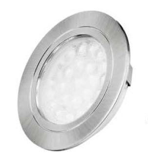 Oval recessed 2W under cabinet light