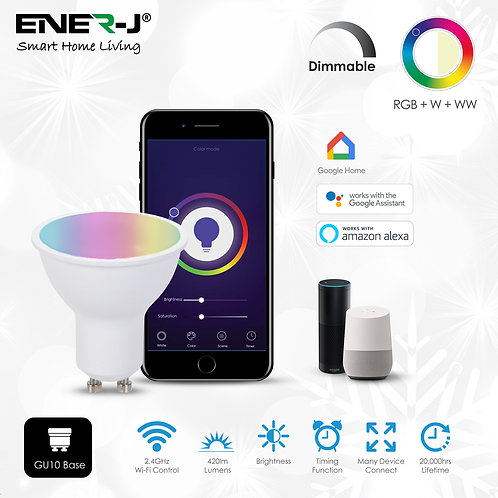 Ener-J smart WiFi GU10 LED 5W dimmable & CCT control