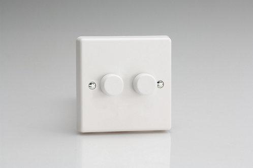 Varilight VPro 2-Gang 2-Way Push-On/Off Rotary LED Dimmer