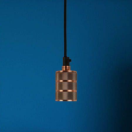 TimeLED Antik Triple Textured Pendant Light - Copper Effect