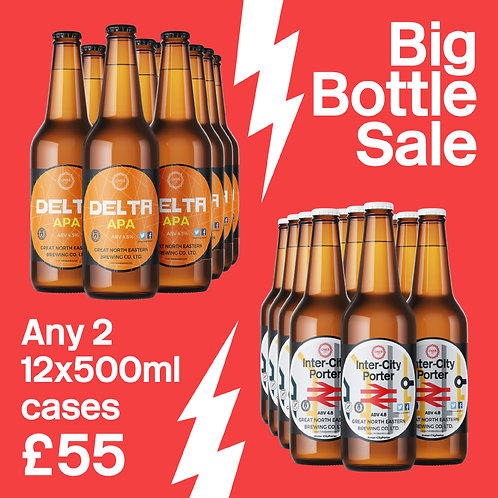 Any 2 12x500ml bottles £55