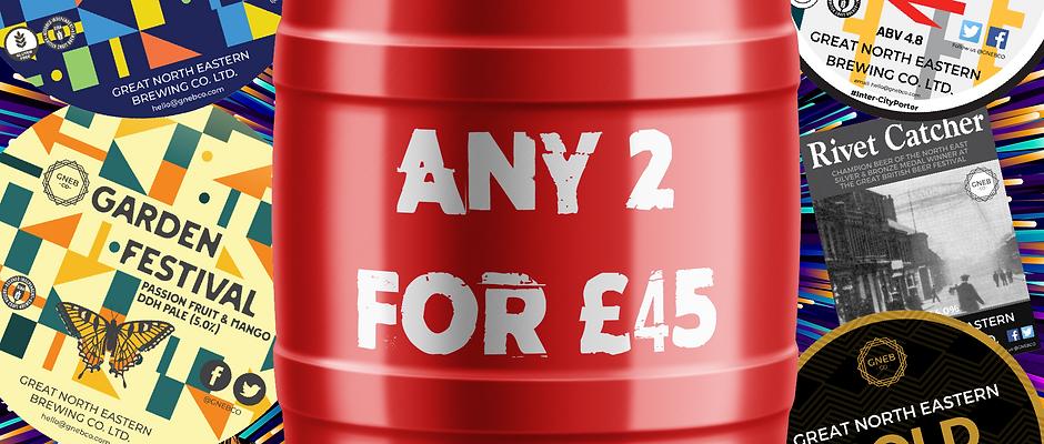 Any 2 Mini Keg/Casks for £45
