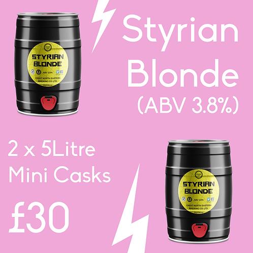 2 x 5l Styrian Blonde (ABV 3.8%) Minicasks £30