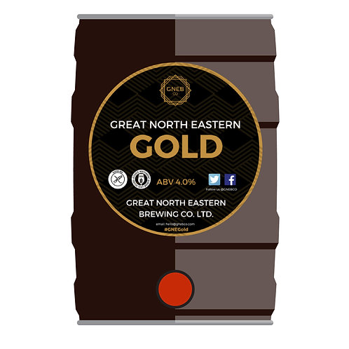 Great North Eastern Gold 5l cask conditioned mini keg