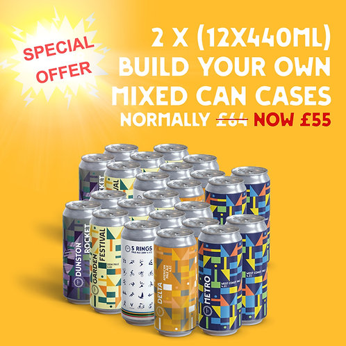 Create your own 24X440ml can mixed case