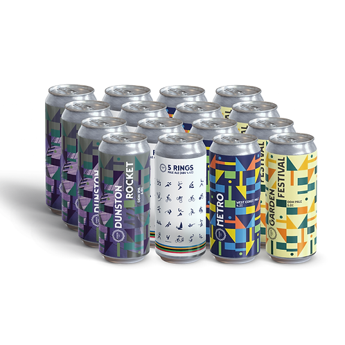 Mixed case 12x440ml cans.