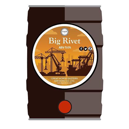 Big Rivet - 5l cask conditioned mini keg.