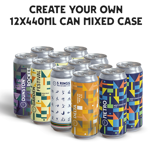 Create your own Mixed case 12x440ml cans.