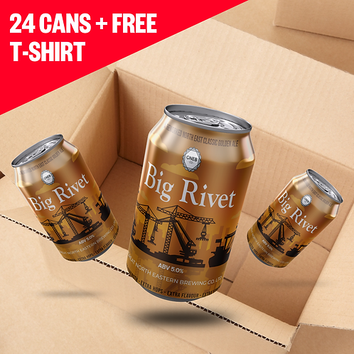 Big Rivet 24x330ml + Free T shirt