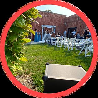 Wedding Ceremony, Founders One Nine, Omaha, NE, Wedding DJ Pearl Entertainment.