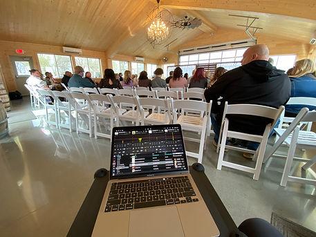 Sparks Barn, Wedding Ceremony,  Wedding DJ Pearl Entertainment
