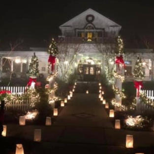 Henington House during the Annual Victorian Candlelighting