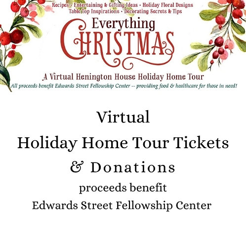 Virtual Henington House Holiday Tour Tickets and Donations