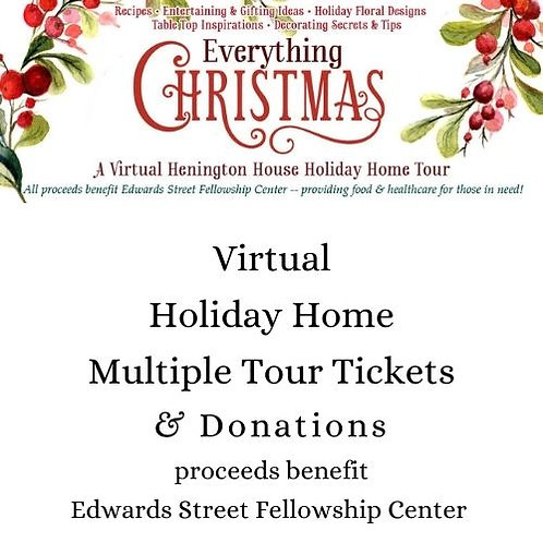 Multiple Holiday Tour Tickets and Donations
