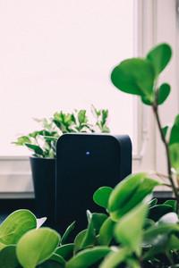 Closeup black speaker