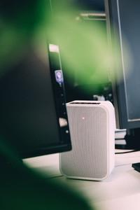 Closeup white Speaker
