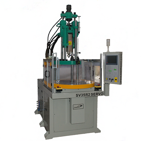 Rotary type vertical injection molding machine