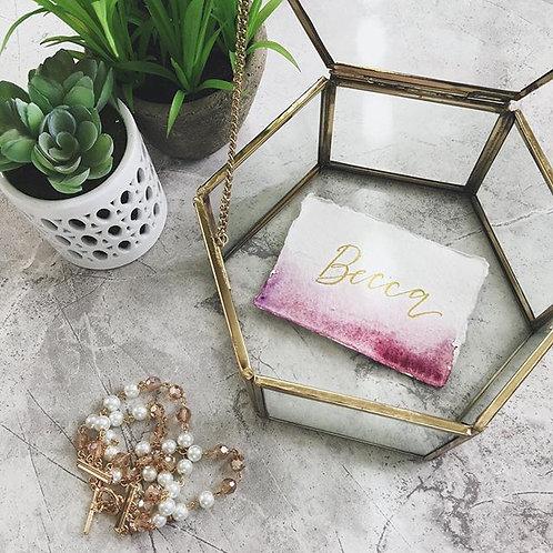 Small Hexagonal Glass Box
