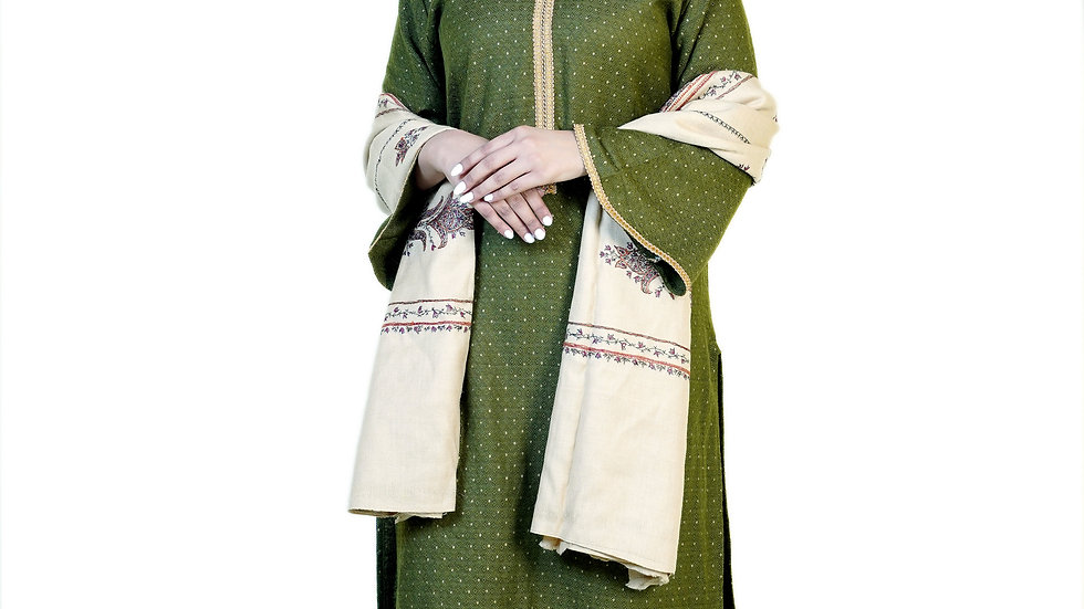 OLIVE GREEN STRAIGHT FIT KURTA