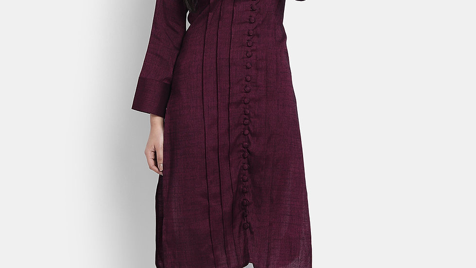 WOMEN'S RAISIN COTTON RAYON KURTA