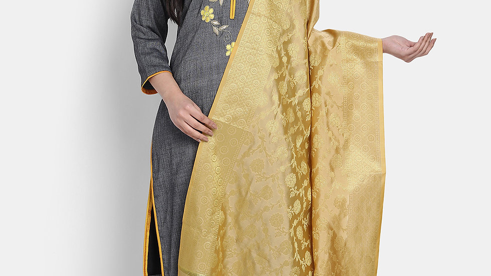 MUSTARD HAND EMBROIDERED SUIT SET