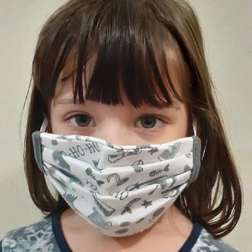 Máscara de elástico infantil 100% Algodão