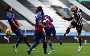 Crystal Palace fight back from early Shelvey goal in huge setback for Newcastle United