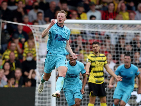 A first half Sean Longstaff stunner cancelled out by a Sarr second half header at Vicarage Road