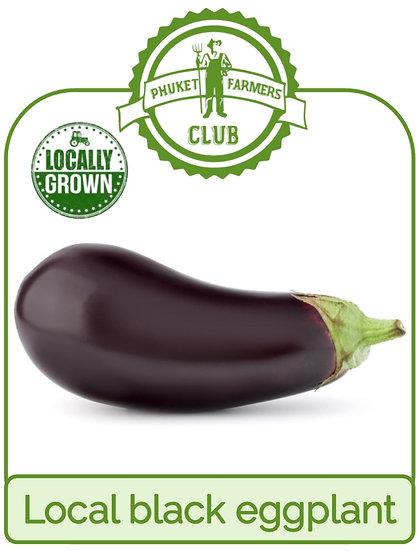 Local black eggplant
