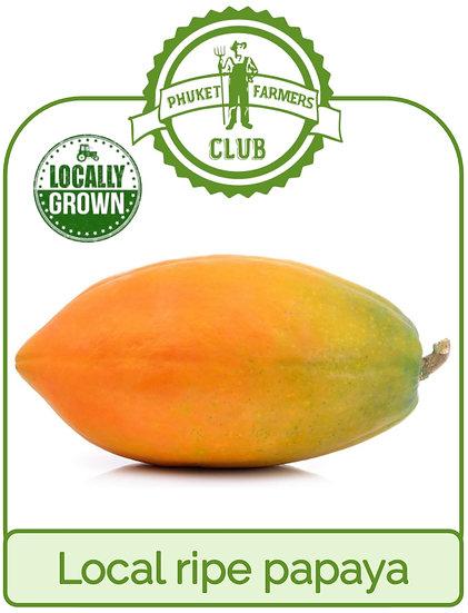 Local ripe papaya