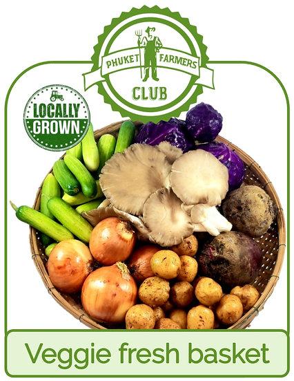 Veggie fresh basket (6 portions)