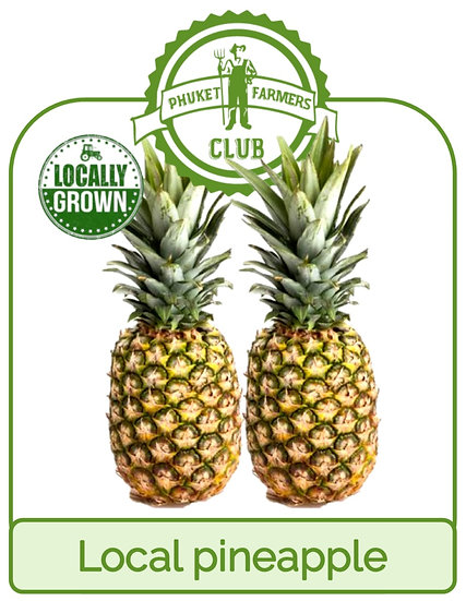 Local pineapple (2 fruits)