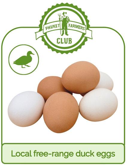 Local free-range duck eggs (10 eggs)