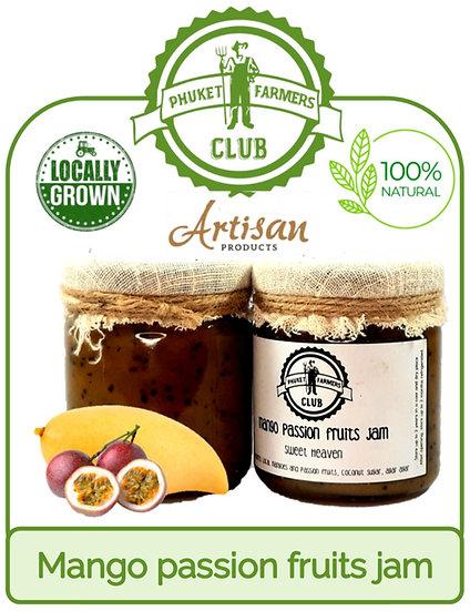 Mango passion fruits jam