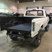 Truck bed has been covered with Linex