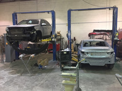 Two of the lifts in the shop