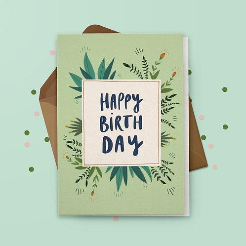 Klappkarte »Birthday« mit Umschlag