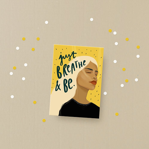 Postkarte Just BREATHE & BE