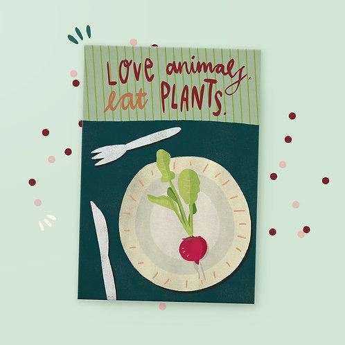 Postkarte »Eat Plants«