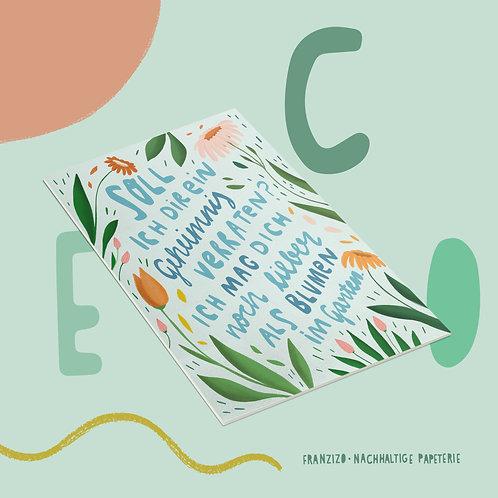 Postkarte »Blumengarten«