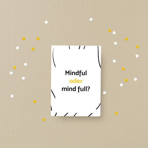 Postkarte mindful