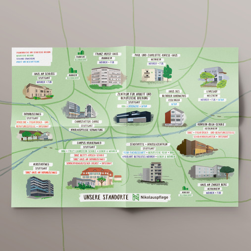 Illustrierte Standort-Karte