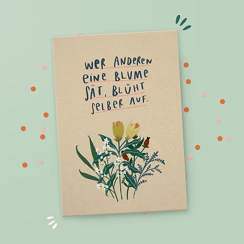 Postkarte »Aufblühen«