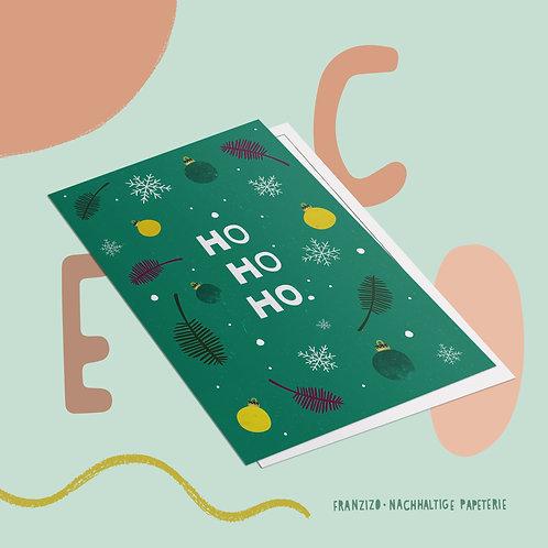 Postkarte »Ho Ho Ho«
