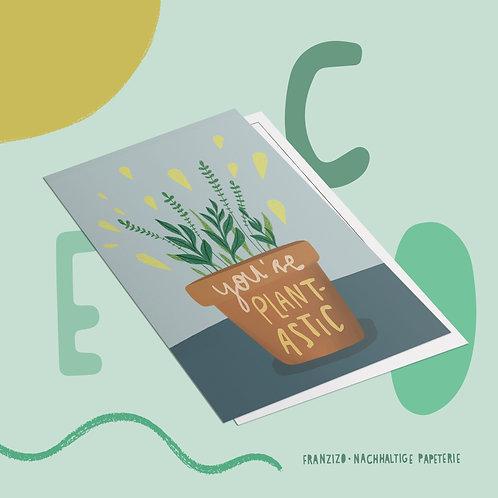 Postkarte »Plantastic«