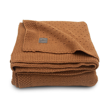 JOLLEIN Strickdecke Bliss Knit caramel - 75x100cm
